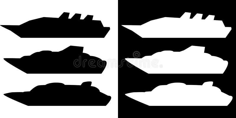 Schattenbildkreuzschiff stock abbildung