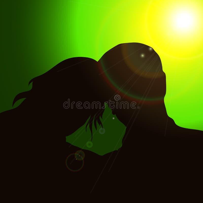 Schattenbildpaare stock abbildung