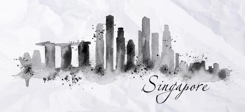 Schattenbildtinte Singapur vektor abbildung
