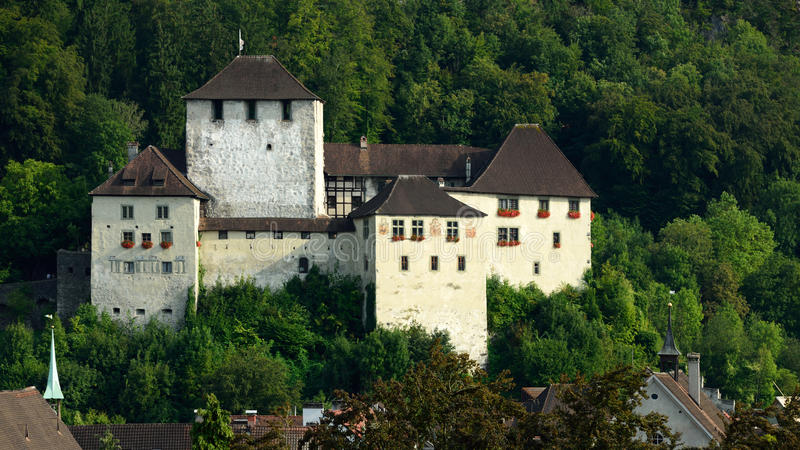 Schattenburg城堡, Feldkirch,奥地利 库存图片