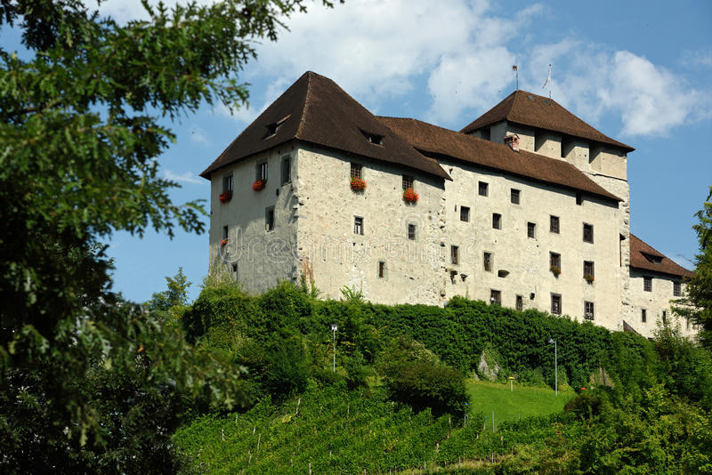 Schattenburg slott, Feldkirch, Österrike royaltyfria bilder
