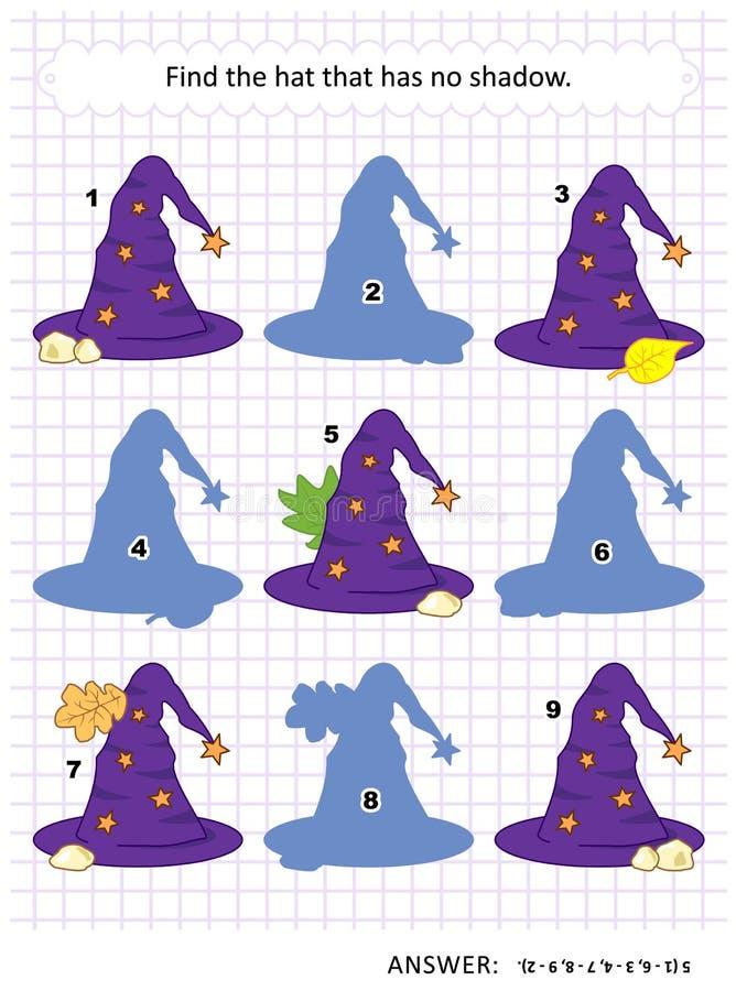 Schattenspiel mit Hexenhüten vektor abbildung