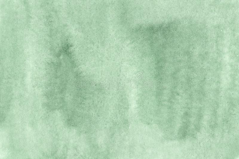 Schattierter gezierter grüner Aquarellhintergrund lizenzfreie abbildung