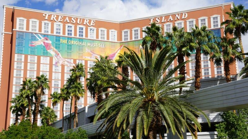 Schatz-Insel-Hotel und Kasino in Las Vegas stockbild