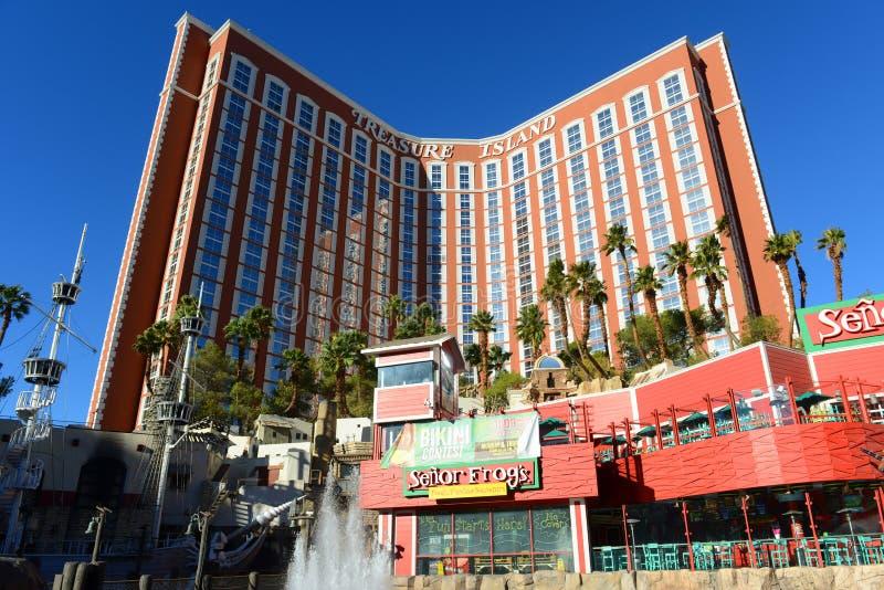 Schatz-Insel, Las Vegas, Nanovolt lizenzfreie stockfotografie