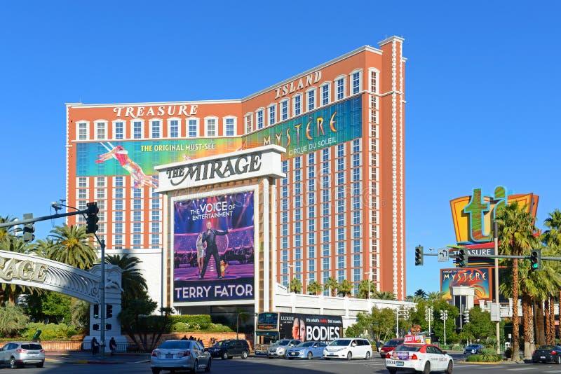 Schatz-Insel, Las Vegas, Nanovolt, USA lizenzfreie stockbilder