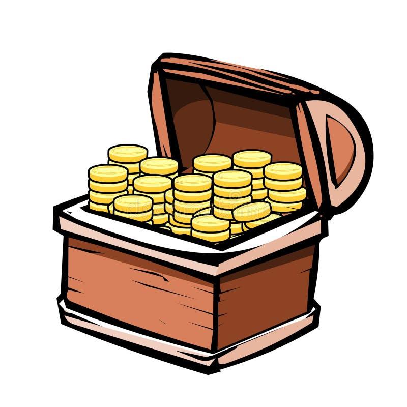 Schatz-Kasten stock abbildung