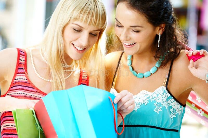 Schauen durch die Einkaufen lizenzfreies stockfoto