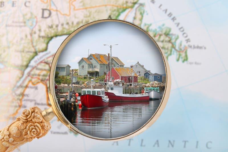 Schauen herein auf Halifax Nova Scotia stockfotografie