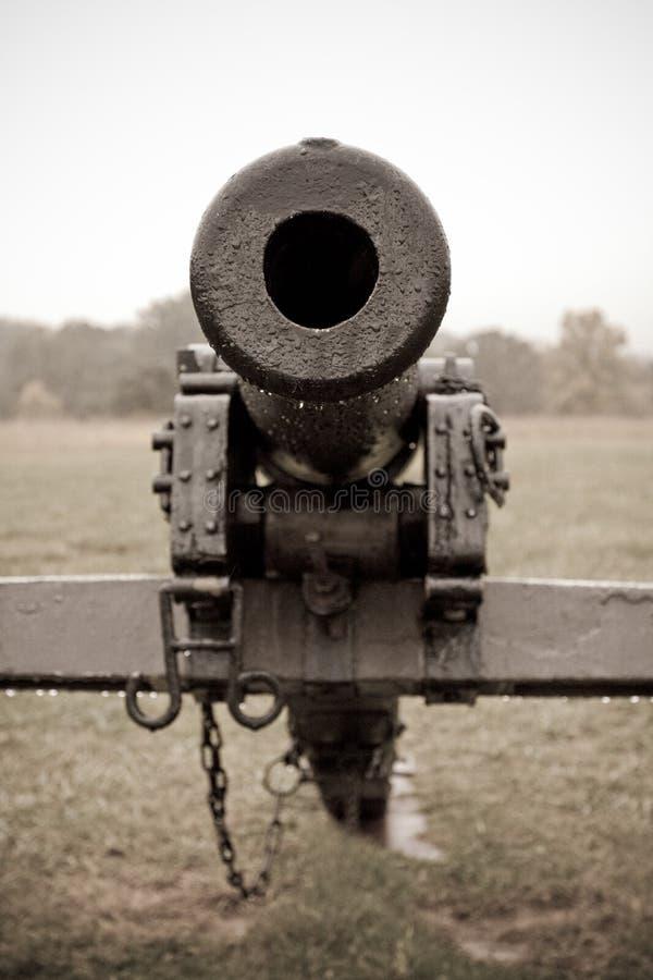 Schauen hinunter Kanone-Faß lizenzfreies stockbild