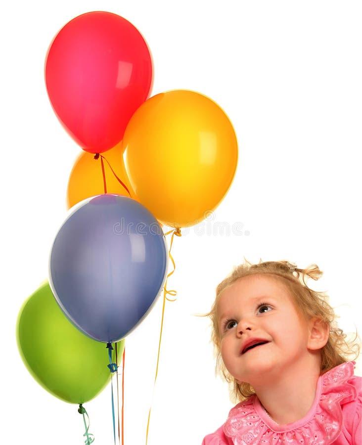 Schauen Sie auf Ballons lizenzfreie stockfotos
