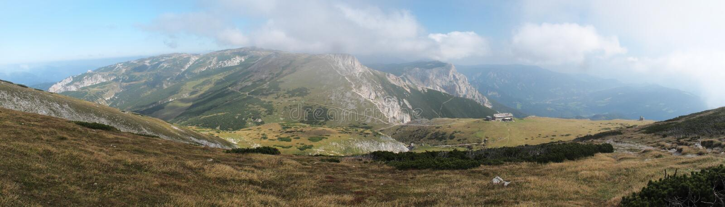 Schauen Sie vom Gipfel von Heukuppe zum Norden stockfotos