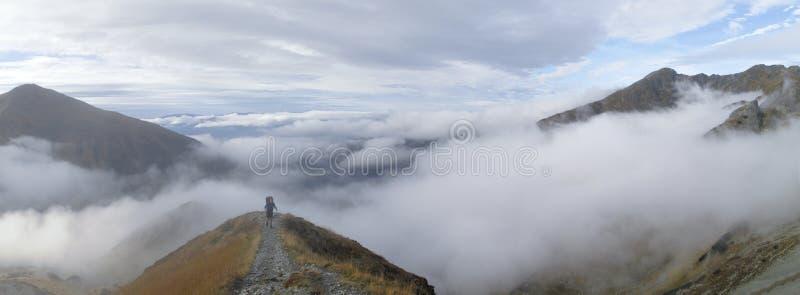 Schauen Sie vom Smutne sedlo in den WestTatra Bergen stockbilder