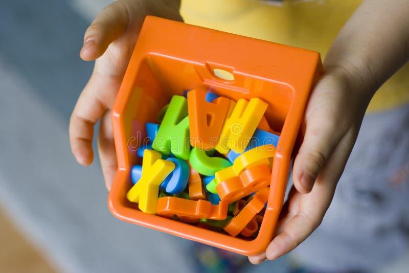 Schauen Sie zu meinen Spielwaren stockfotografie