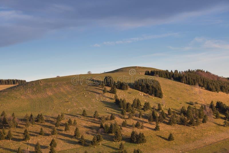 Schauinsland-Berg nahe Freiburg, Deutschland stockbilder