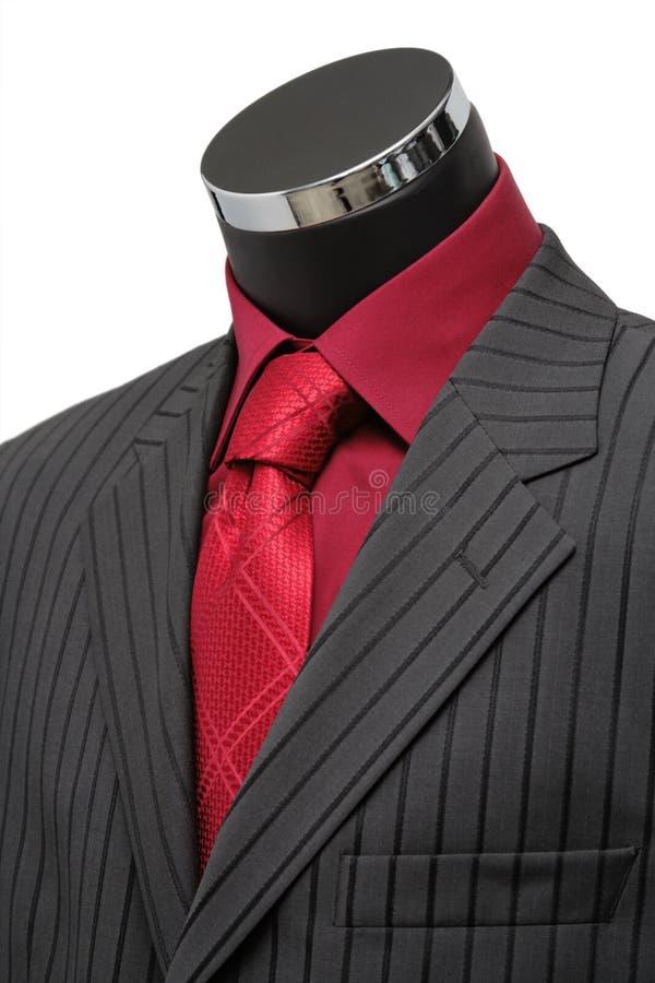 Schaukasten-Mannequin kleidete in der Klage an lizenzfreie stockbilder