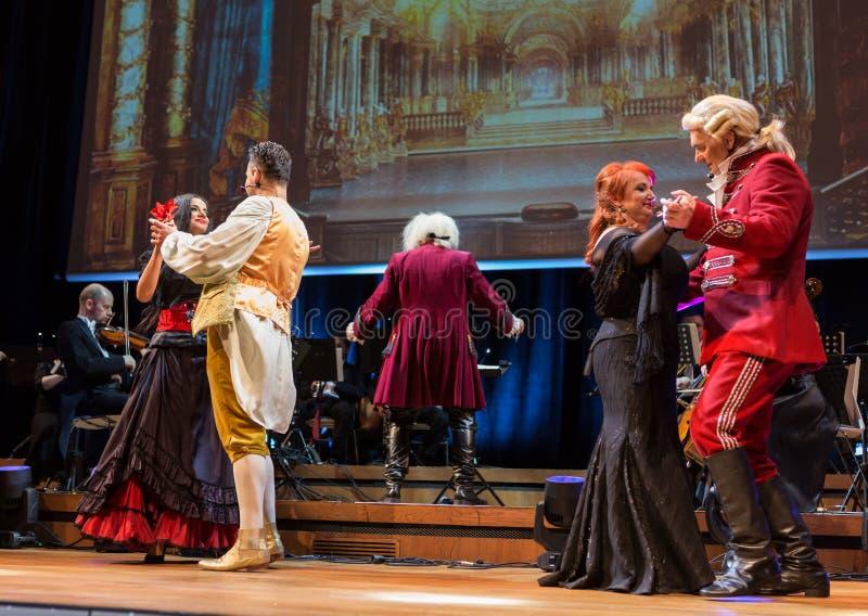 Schauspiel, das Filharmonia Futura und M kennzeichnet Walewska - Oper ist das Leben, lizenzfreie stockbilder