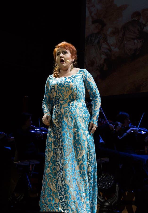 Schauspiel, das Filharmonia Futura und M kennzeichnet Walewska - Oper ist das Leben, stockbilder