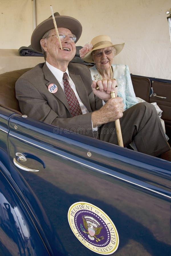 Schauspieler, die Präsidenten Franklin D. Roosevelt schildern stockfoto