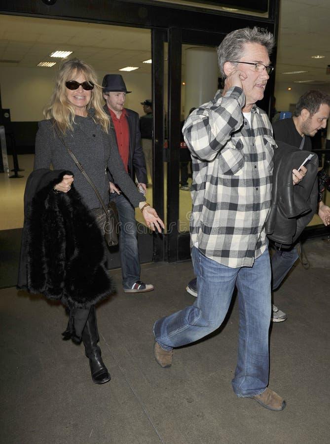 Schauspieler Goldie Hawn und Kurt Russell an LOCKEREM stockfoto