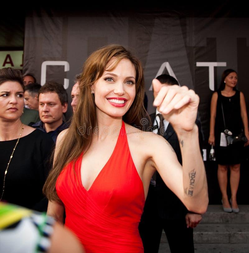 Schauspielerin Angelina Jolie lizenzfreie stockfotos