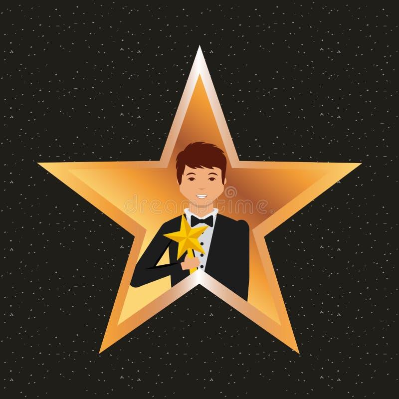 Schauspielerpreisdesign stock abbildung