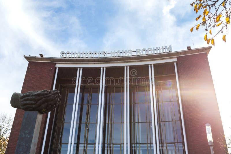 Schauspielhaus Γερμανία του Μπόχουμ το φθινόπωρο στοκ φωτογραφία με δικαίωμα ελεύθερης χρήσης