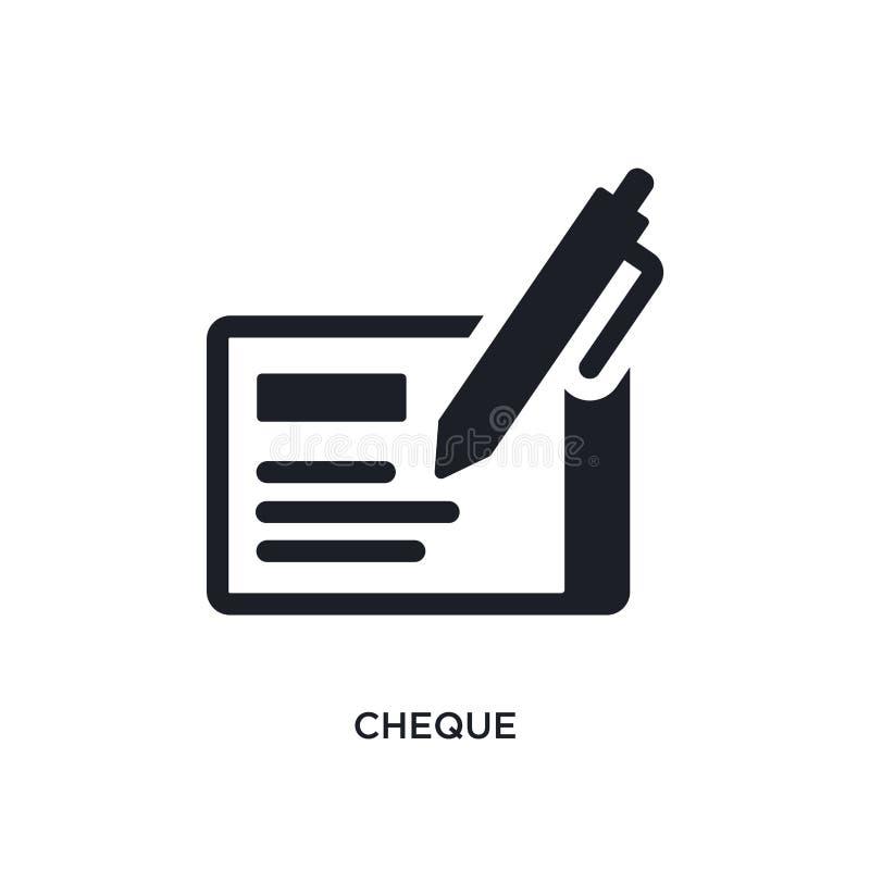Scheck lokalisierte Ikone einfache Elementillustration von den Zahlungskonzeptikonen Logozeichen-Symbolentwurf des Schecks editab stock abbildung