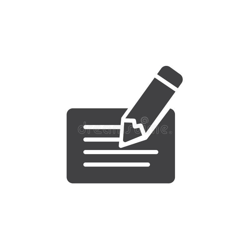 Scheck- und Stiftvektorikone vektor abbildung