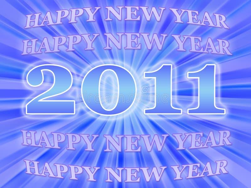 Scheda 2011 di nuovo anno illustrazione di stock