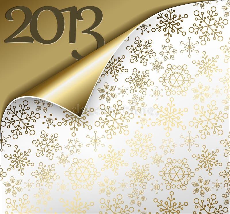 Scheda 2013 di nuovo anno di natale di vettore illustrazione vettoriale