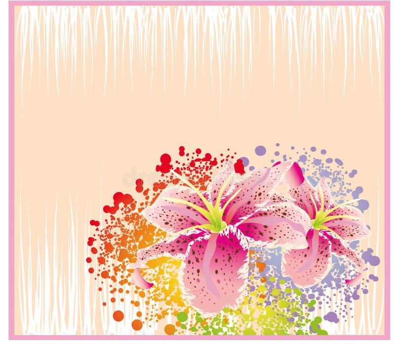 Scheda astratta del fiore illustrazione vettoriale