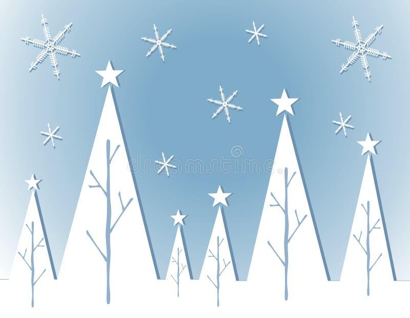 Scheda bianca astratta dell'albero di Natale illustrazione vettoriale