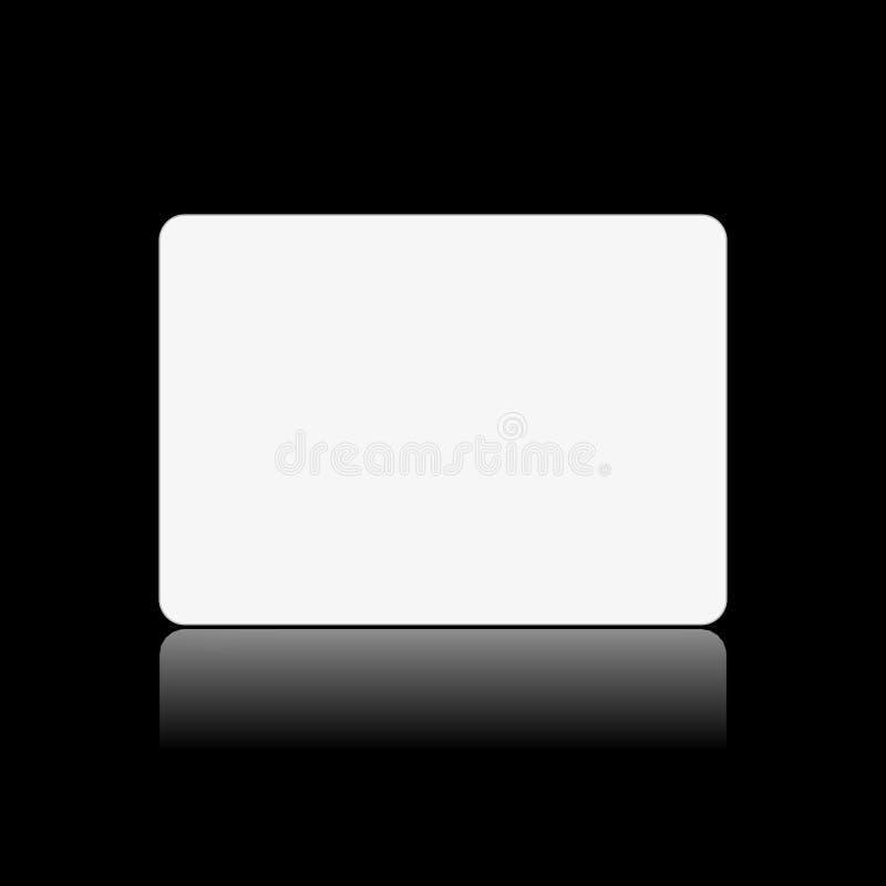 Scheda bianca in bianco sul nero royalty illustrazione gratis