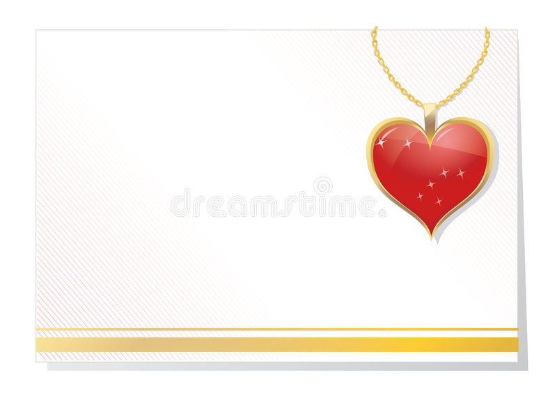 Download Scheda In Bianco Del Biglietto Di S. Valentino Illustrazione Vettoriale - Illustrazione di amore, immagine: 7318582