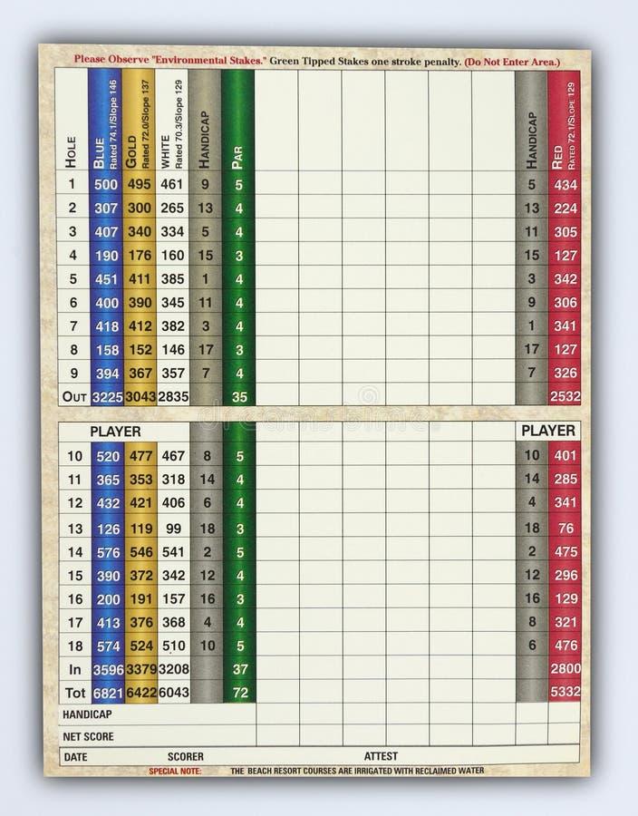 Scheda in bianco del segno di golf fotografie stock libere da diritti