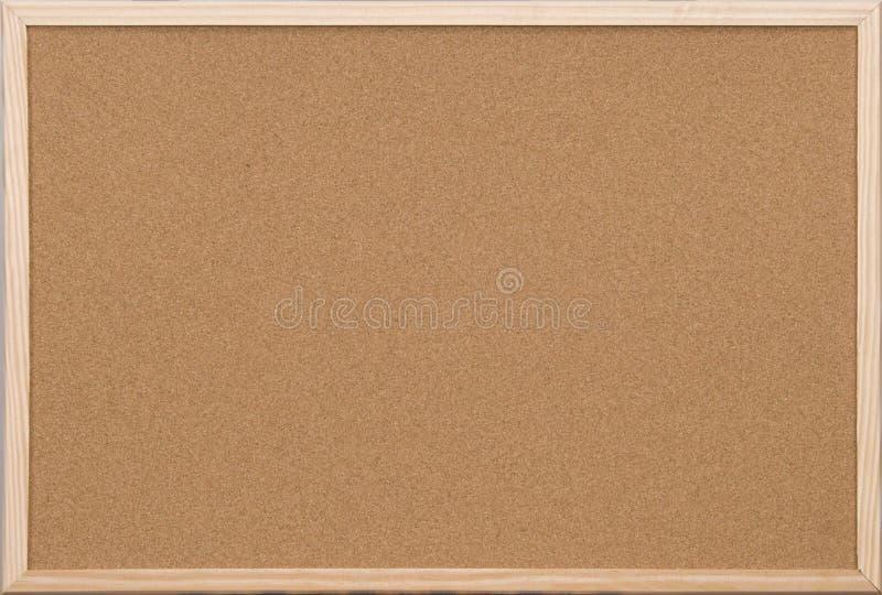Scheda in bianco del sughero dell'ufficio con il blocco per grafici di legno fotografia stock libera da diritti