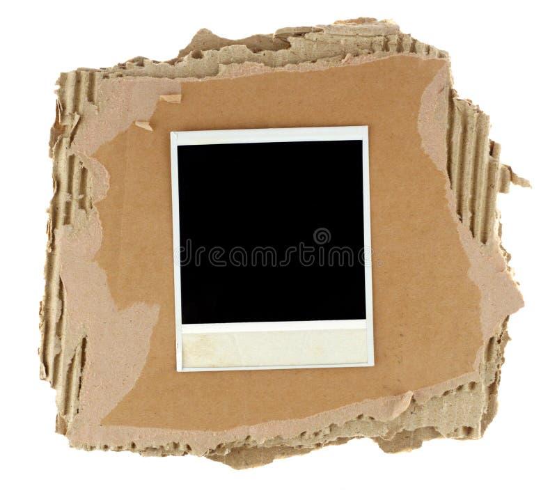 Scheda in bianco della foto fotografie stock libere da diritti