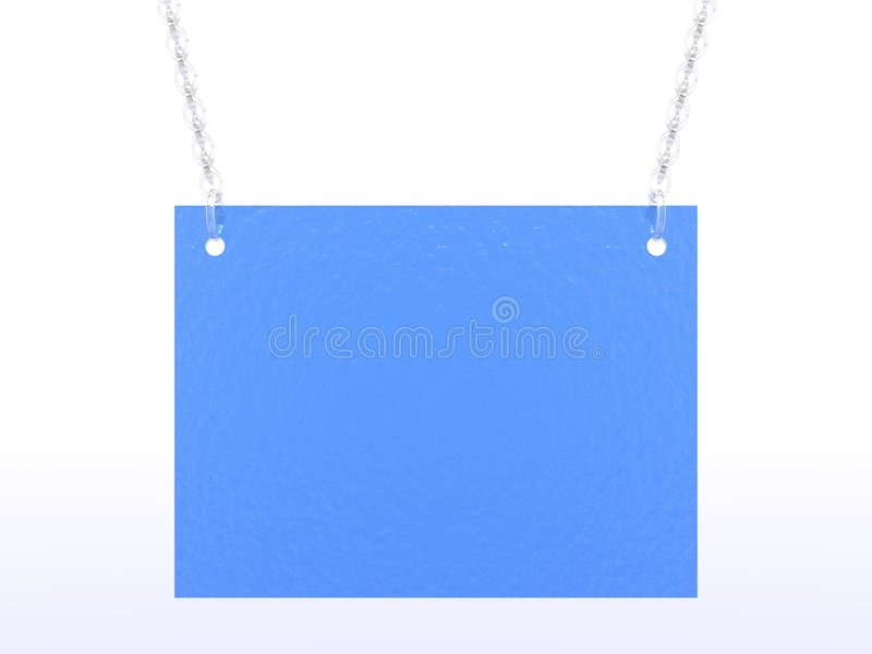 Scheda blu illustrazione di stock
