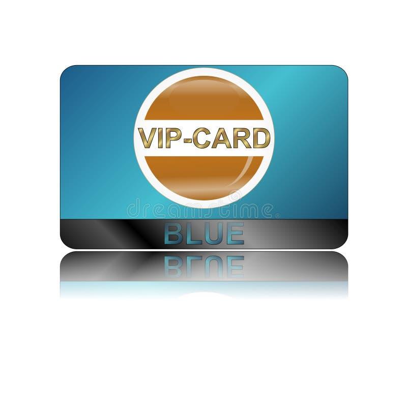 Scheda blu di VIP royalty illustrazione gratis