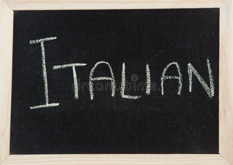 Scheda con ITALIANO immagini stock libere da diritti
