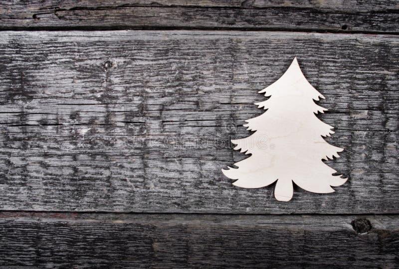 Scheda con l'albero di Natale fotografia stock libera da diritti