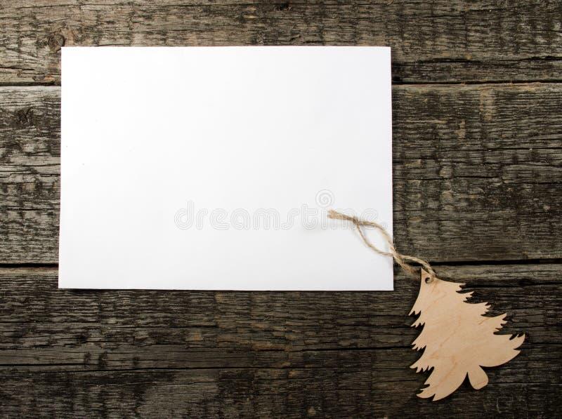 Scheda con l'albero di Natale fotografie stock