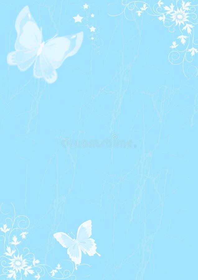 Scheda con la farfalla illustrazione vettoriale