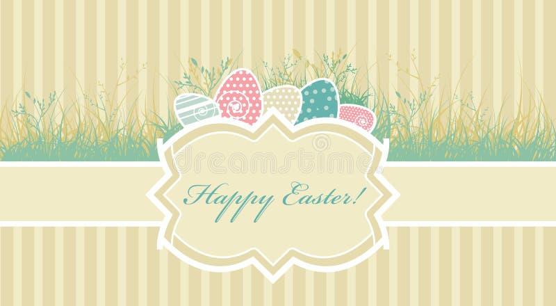 Scheda con le uova di Pasqua royalty illustrazione gratis