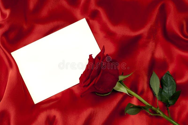 Scheda con una rosa fotografia stock
