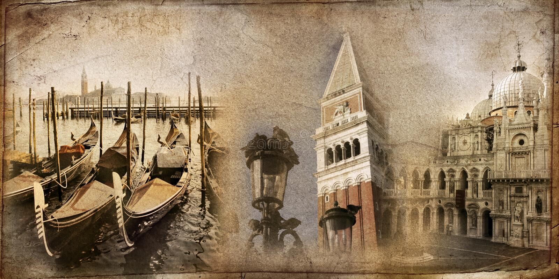 Scheda da Venezia immagini stock libere da diritti