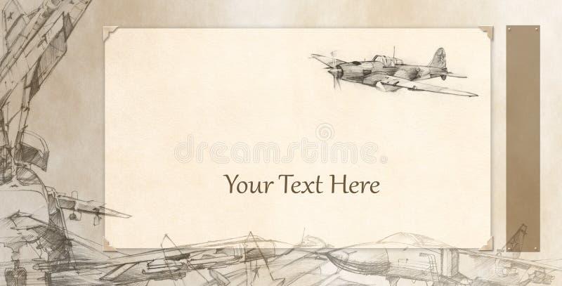 Scheda degli aeroplani royalty illustrazione gratis