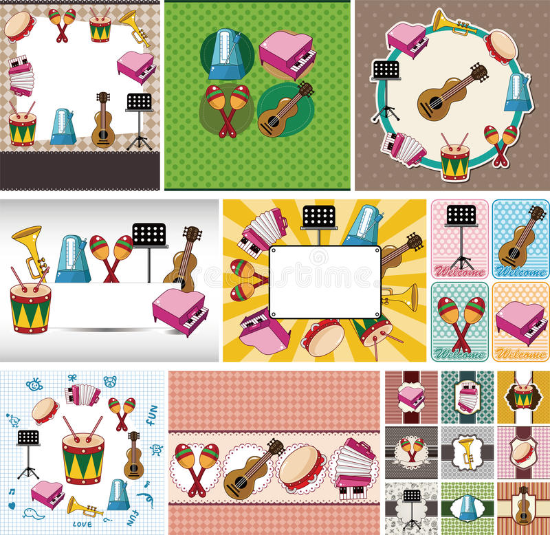 Scheda degli strumenti musicali royalty illustrazione gratis