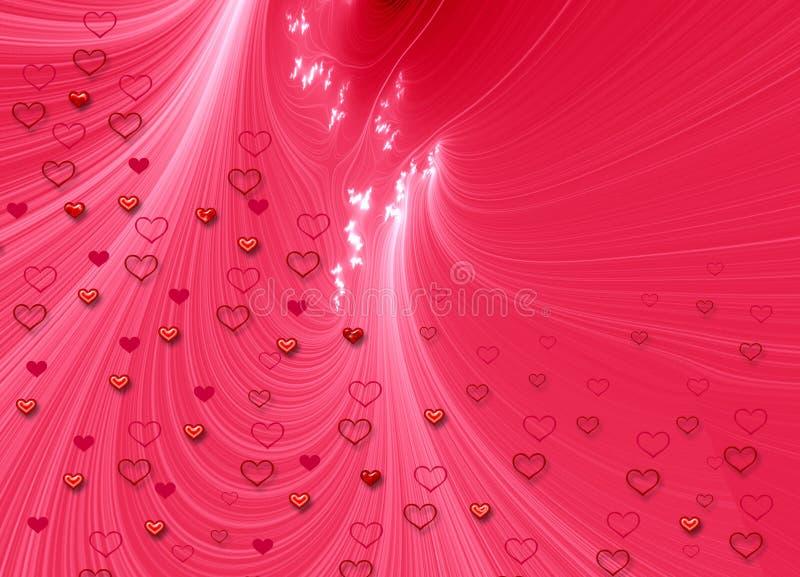 Scheda dei biglietti di S. Valentino illustrazione vettoriale